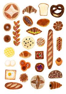 いろいろなパンのイラスト素材 [FYI01819651]