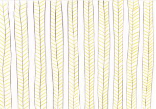 黄色い葉っぱのボーダー模様のパターンのイラスト素材 [FYI01819659]