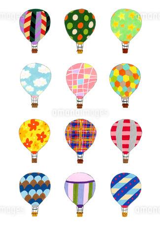 いろいろな気球のイラスト素材 [FYI01819663]