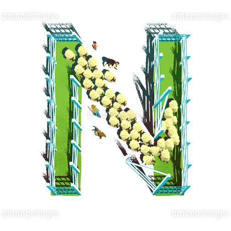 アルファベット Nのイラスト素材 [FYI01819669]