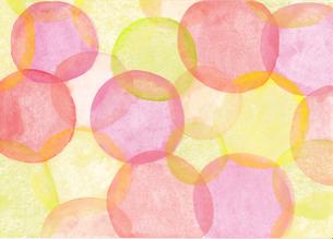 水彩の水玉模様のパターンのイラスト素材 [FYI01819724]