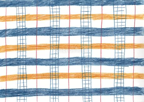 秋色のチェック模様のパターンのイラスト素材 [FYI01819727]