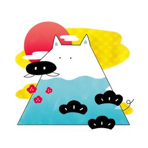 富士山のような猪のイラスト素材 [FYI01819751]