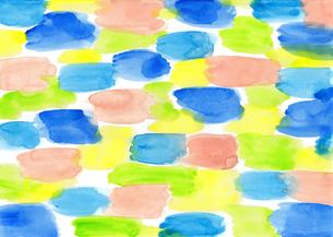 水彩にじみ模様のパターンのイラスト素材 [FYI01819755]