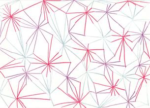 線で繋いだ花模様のパターンのイラスト素材 [FYI01819765]