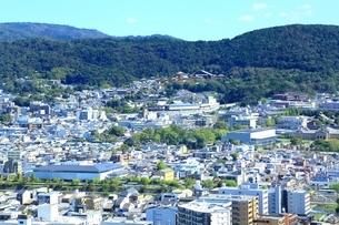 京都タワーより望む京都市街の写真素材 [FYI01819806]