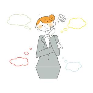 悩む女性営業のイラスト素材 [FYI01819815]