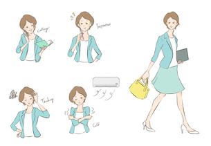 働く女性のイラスト素材 [FYI01819832]
