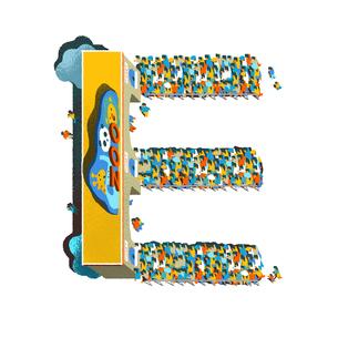 アルファベット Eのイラスト素材 [FYI01819846]