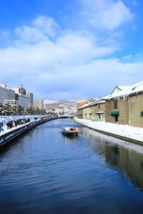 冬の小樽運河の写真素材 [FYI01819901]