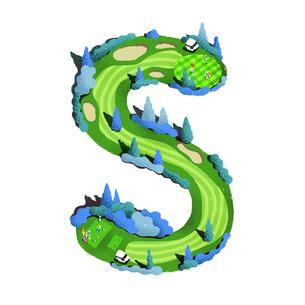 アルファベット Sのイラスト素材 [FYI01819954]