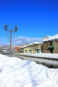 冬の小樽運河の写真素材 [FYI01820082]