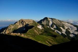 杓子岳と白馬鑓ヶ岳の写真素材 [FYI01820116]