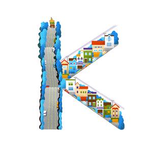 アルファベット Kのイラスト素材 [FYI01820155]