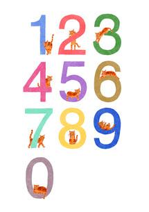 猫と数字のイラスト素材 [FYI01820413]