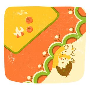 コタツで眠る子供のイラスト素材 [FYI01820504]