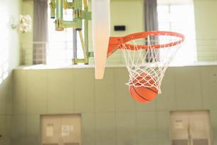 バスケットゴールの写真素材 [FYI01820649]