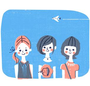 女性3人のイラスト素材 [FYI01820854]