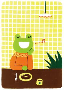 カエルの歌のイラスト素材 [FYI01820924]