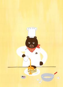 くまのホットケーキのイラスト素材 [FYI01821031]