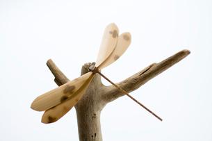 竹で作られたとんぼの写真素材 [FYI01821035]