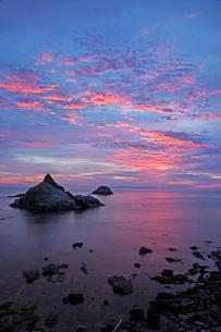 笹川流れ夕景の写真素材 [FYI01821771]