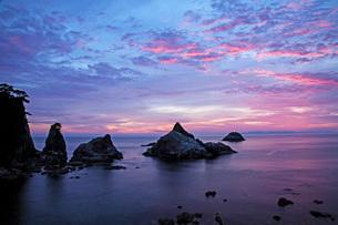 笹川流れ夕景の写真素材 [FYI01821802]