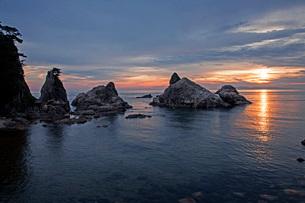 笹川流れ夕景の写真素材 [FYI01821821]