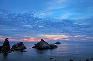 笹川流れ夕景の写真素材 [FYI01821831]