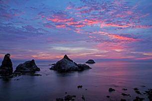笹川流れ夕景の写真素材 [FYI01821867]