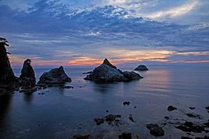 笹川流れ夕景の写真素材 [FYI01821949]