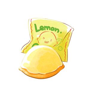 水彩タッチのレモンケーキのイラスト素材 [FYI01822035]