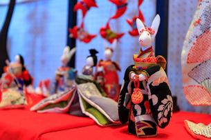 はなわのつるし雛祭りの写真素材 [FYI01822093]