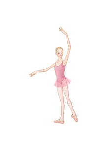 バレエのレッスンをする少女のイラスト素材 [FYI01823144]