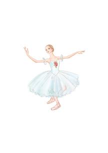 バレエ クラシックチュチュを着て踊る女性のイラスト素材 [FYI01823199]