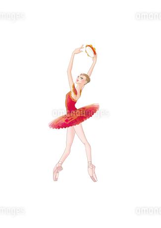 バレエ「ノートルダム・ド・パリ」のエスメラルダを踊る女性のイラスト素材 [FYI01823225]