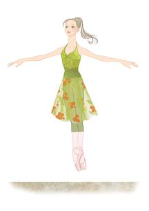 バレエのレッスンをする女性のイラスト素材 [FYI01823233]