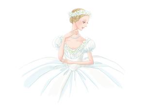 白い衣装のバレリーナのイラスト素材 [FYI01823234]