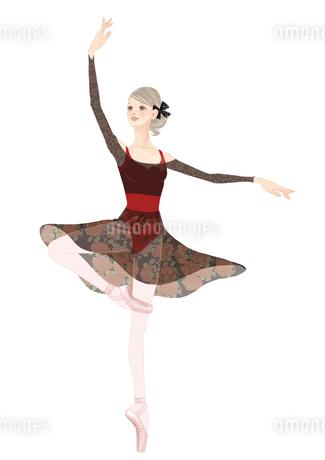 踊る女性のイラスト素材 [FYI01823264]