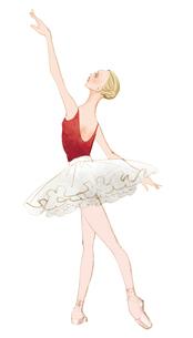 白いチュチュを着てレッスンする女性のイラスト素材 [FYI01823378]