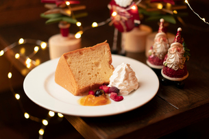 クリスマスディナーのパンケーキの写真素材 [FYI01823394]