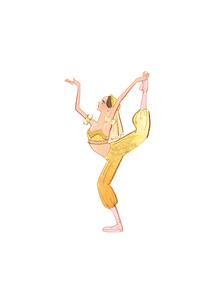 バレエ「くるみ割り人形」コーヒーの精を踊る女性のイラスト素材 [FYI01823464]