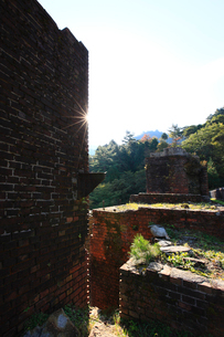 秋の別子銅山跡の写真素材 [FYI01823960]