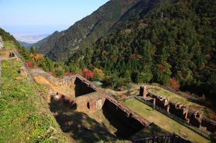 秋の別子銅山跡の写真素材 [FYI01824073]