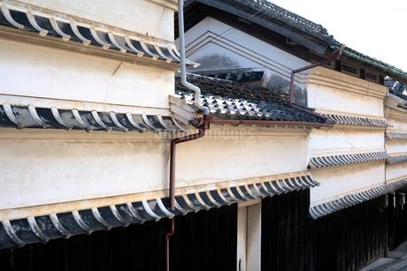 吉良川の水切り瓦の家並の写真素材 [FYI01824139]