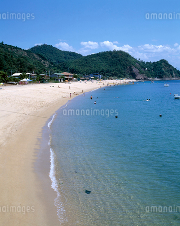 姫ヶ浜海水浴場の写真素材 [FYI01824521]