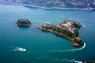 能島の桜 空撮の写真素材 [FYI01824777]