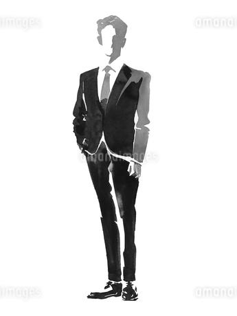 正面向きビジネスマンのイラスト素材 [FYI01825690]
