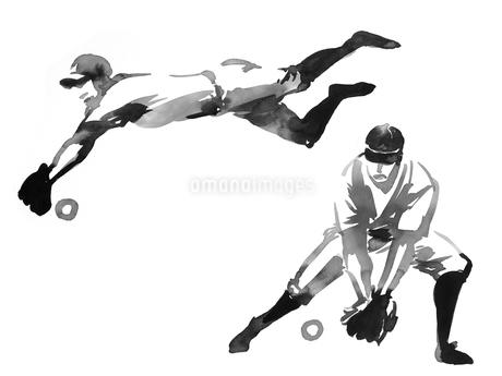 野手のイラスト素材 [FYI01825713]