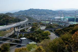 来島海峡大橋の自転車・歩行者専用ループ橋の写真素材 [FYI01825766]